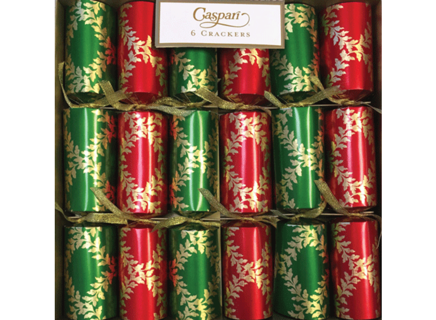 Acanthus Trellis Christmas Crackers 6 Count 12.5 Inch Long