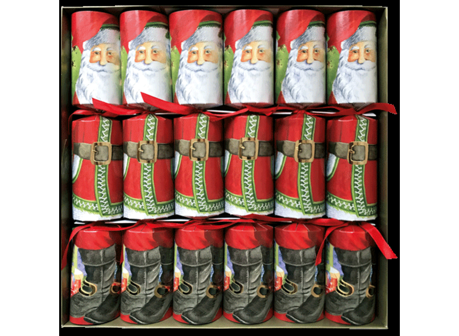 Santa Claus Lane Christmas Crackers 6 Count 12.5 Inch Long