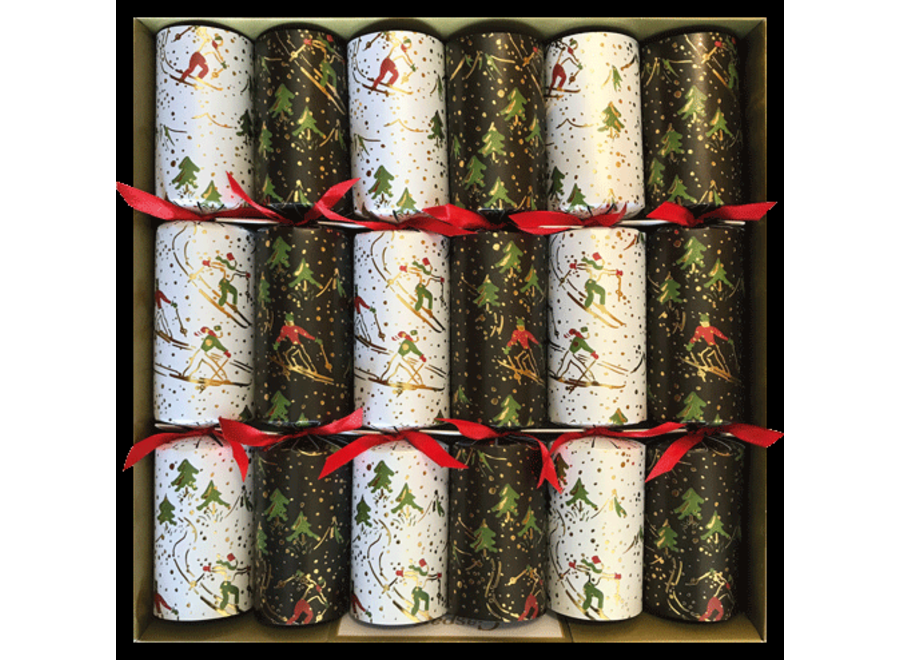 Winter Sports Christmas Crackers 6 Count 12.5 Inch Long