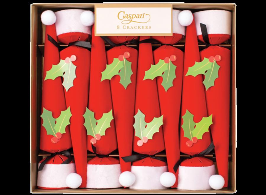 Santa Hat Christmas Cone Crackers - 12 Inch 8 Per Box