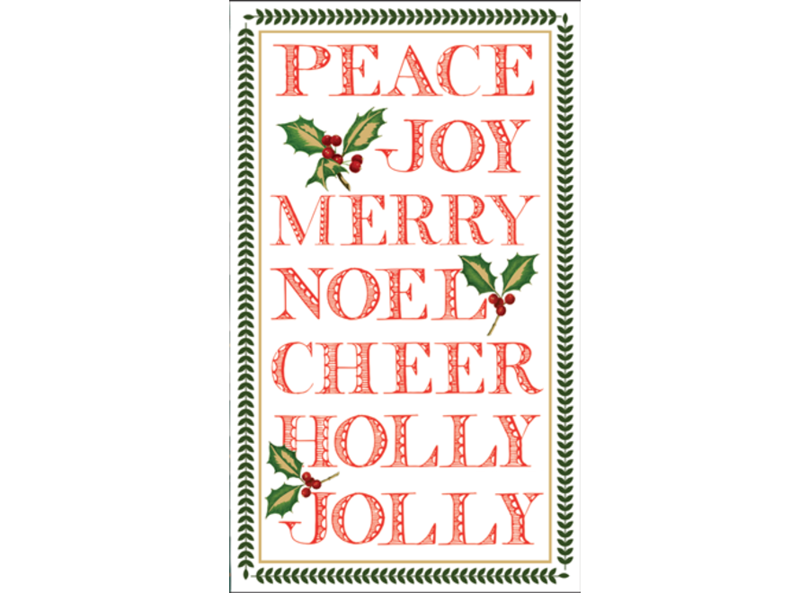 Yuletide Cheer TTop Paper Match Boxes