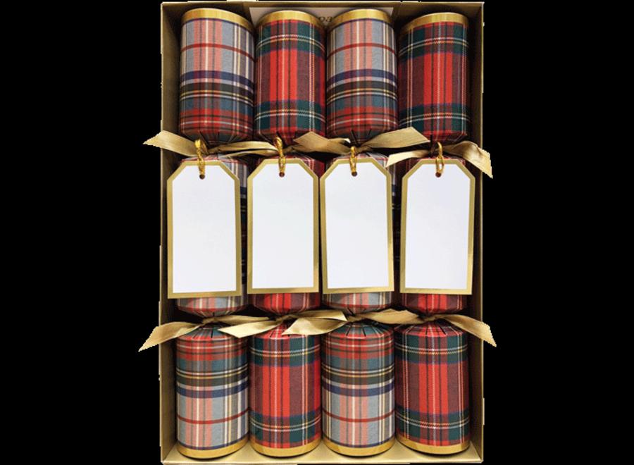 Stewart Tartan Christmas Crackers Crackers - 8 Per Box
