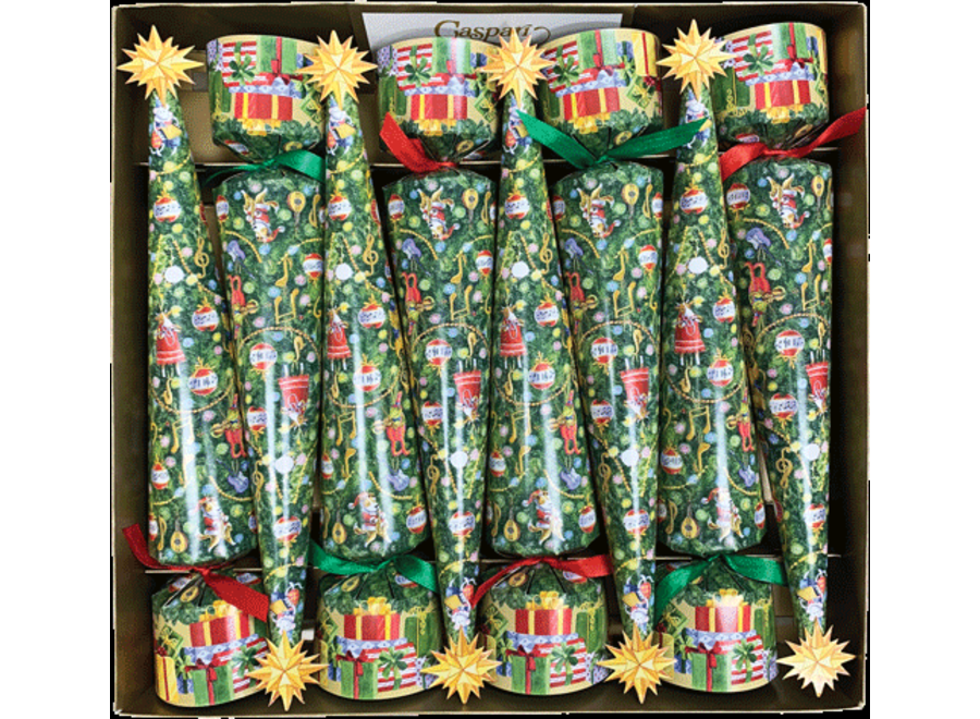 Musical Jamboree Tree Christmas Cone Crackers - 12 Inch 8 Per Box