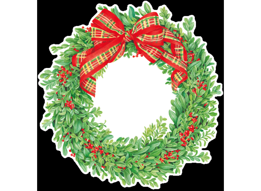 Boxwood and Berries Wreath Die-Cut Placemat