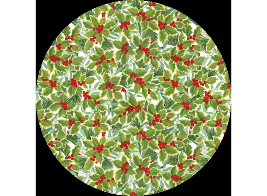 Holly and Mistletoe Die-Cut Placemat