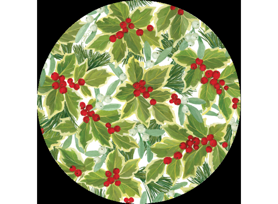 Holly and Mistletoe Coaster - Die Cut 4 in Bag