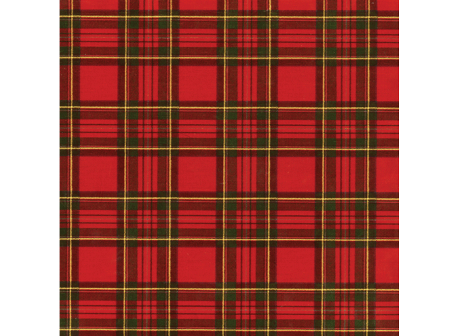 Royal Plaid Foil Gift Wrapping Paper Continuous Wrap Roll