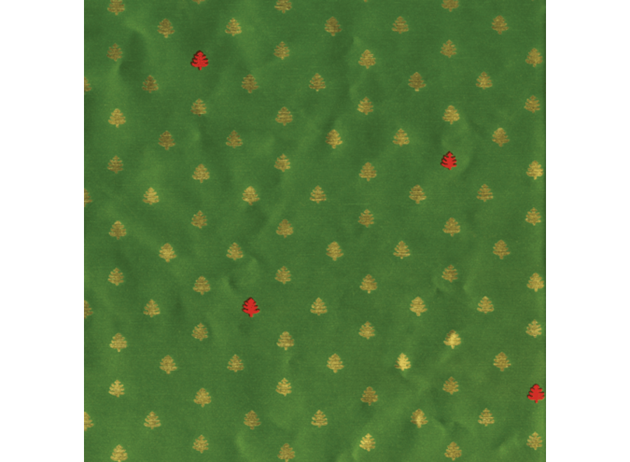 Tiny Trees Green/Red Gift Wrapping Paper Continuous Wrap Roll