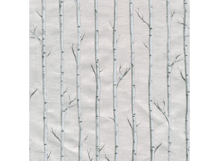 """Birch Gift Wrapping Paper in Silver Foil - 30"""" x 8' Roll"""