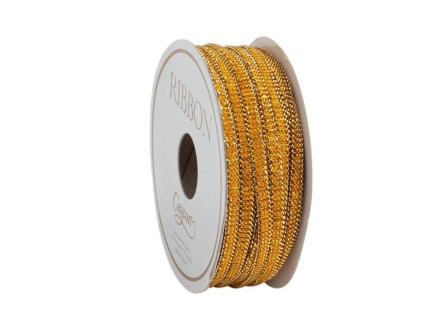 Gold Bracelet Unwired Ribbon - 10 Yard Spool