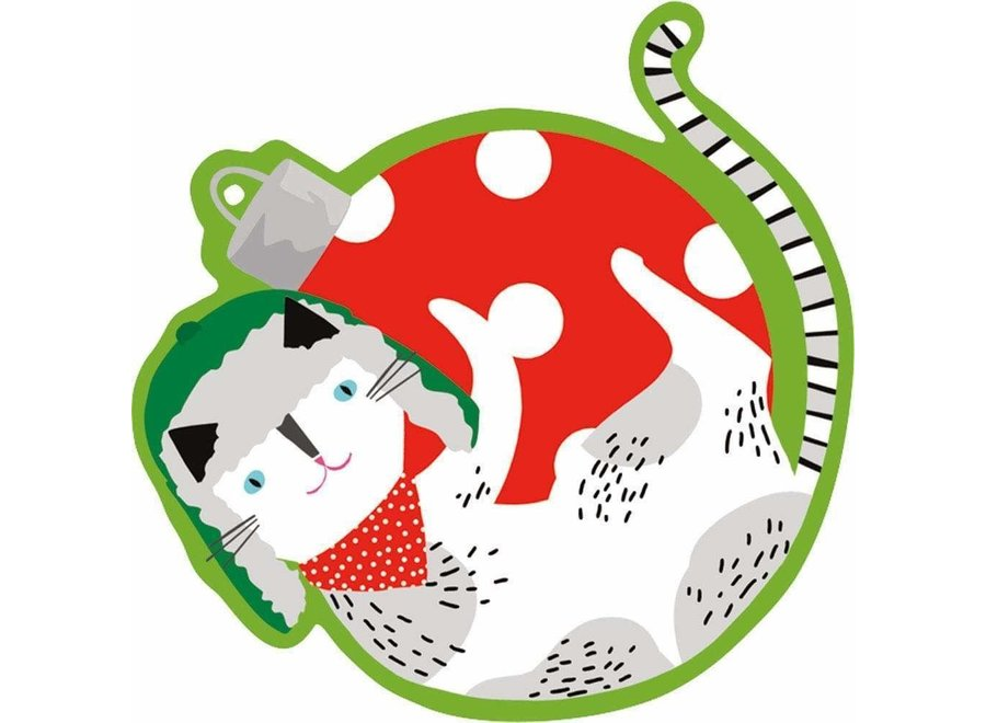 Yule Cats Decorative Die-Cut Gift Tag - 4 Per Package