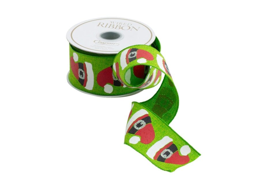 Santa Hats Wired Ribbon - 6 Yard Spool