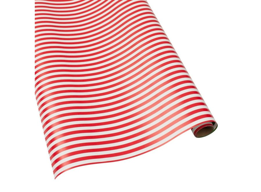 """Club Stripe Reversible Gift Wrapping Paper in Red & Green - 30"""" x 8' Roll"""