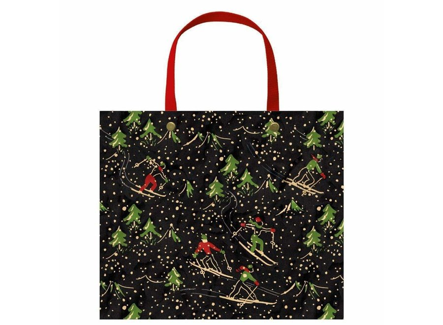 Winter Sports Large Gift Bag in Black - 1 Each