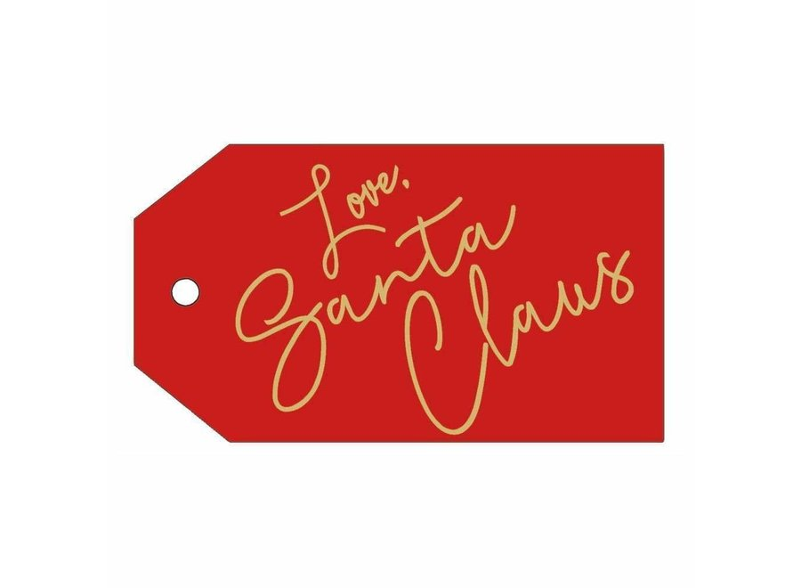 Love, Santa Claus Classic Gift Tags - 4 Per Package