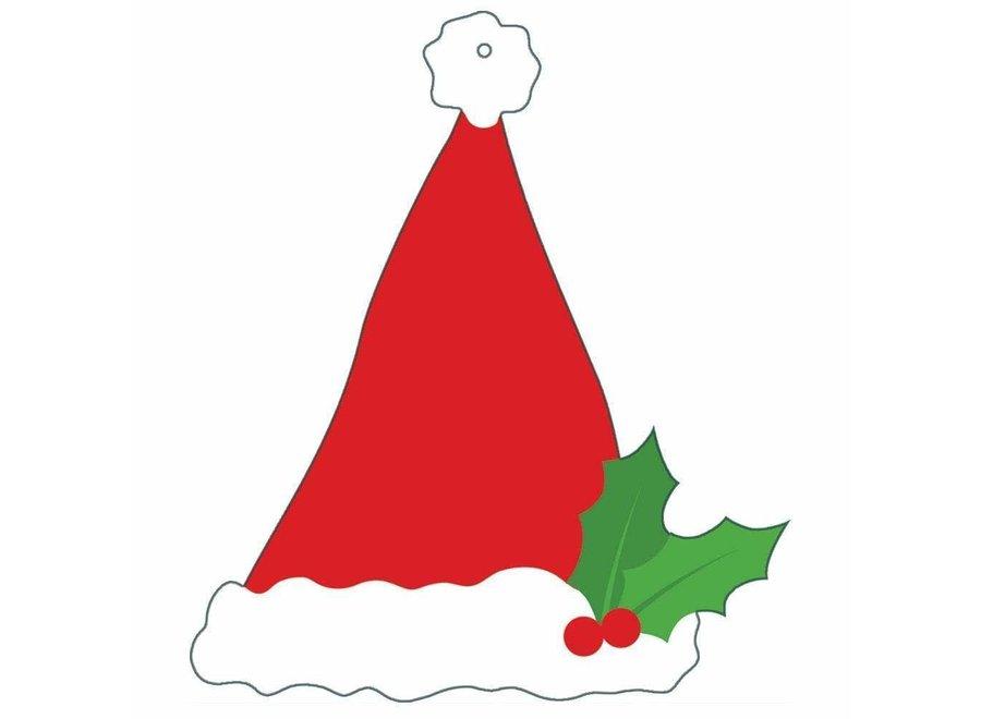 Santa Hat Die-Cut Gift Tags - 4 Per Package
