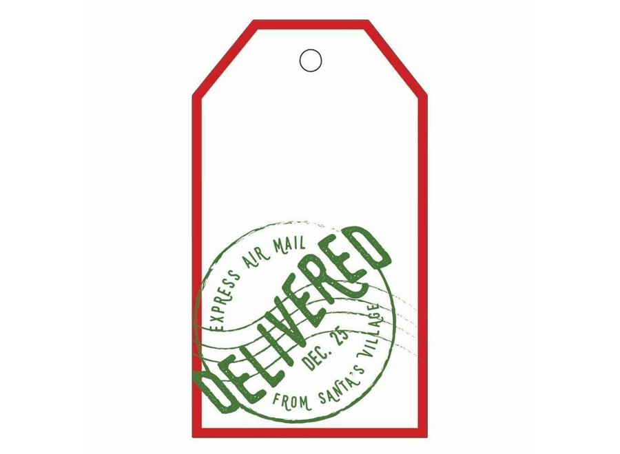 Delivered December 25th Classic Gift Tags - 4 Per Package