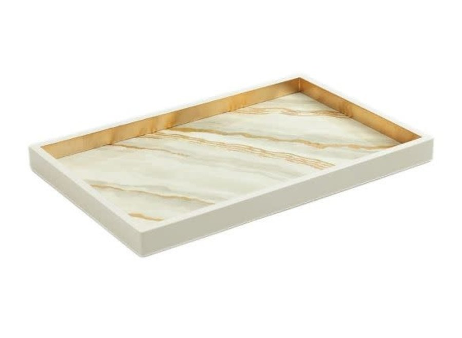 Marble Lacquer Vanity Tray in Moonlight Grey - 1 Each