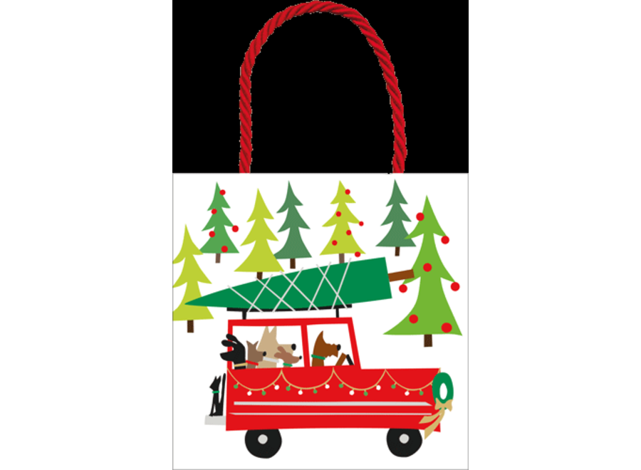 Doggy Tree Adventure Small Gift Bag - 1 Each