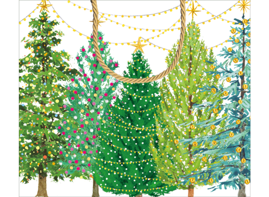 Christmas Trees With Lights Large Gift Bag - 1 Each