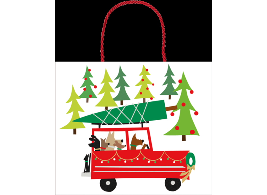 Doggy Tree Adventure Large Gift Bag - 1 Each