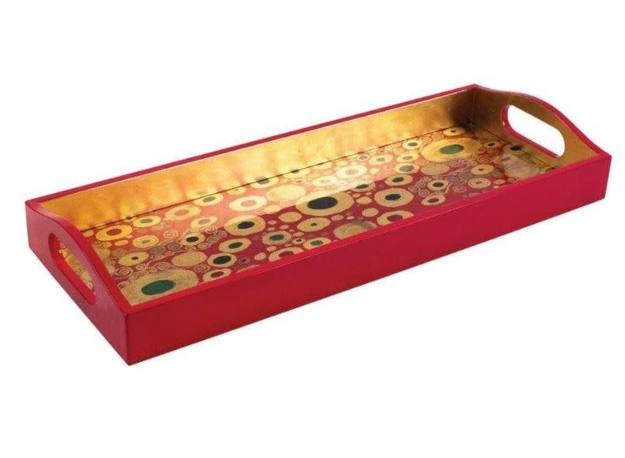Viennese Nouveau Lacquer Bar Tray in Red - 1 Each
