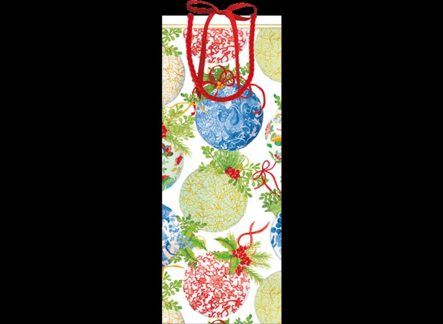 Porcelain Ornaments Wine & Bottle Gift Bag - 1 Each