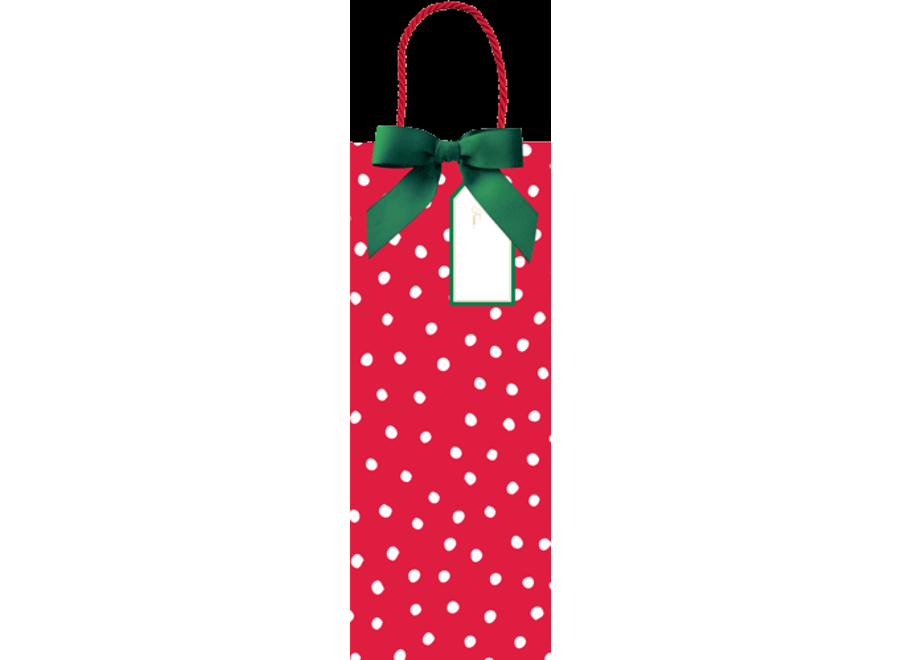 Painted Dots Wine & Bottle Gift Bag - 1 Each