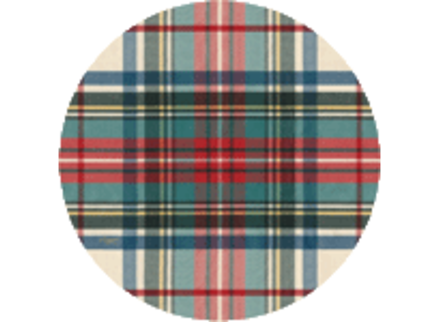 Dress Stewart Tartan Coaster Die-Cut 4 In Bag