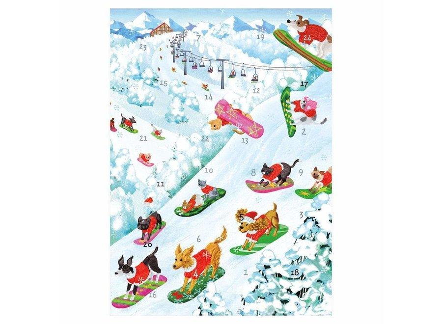Off Leash Advent Calendar Greeting Card - 1 Card & 1 Envelope