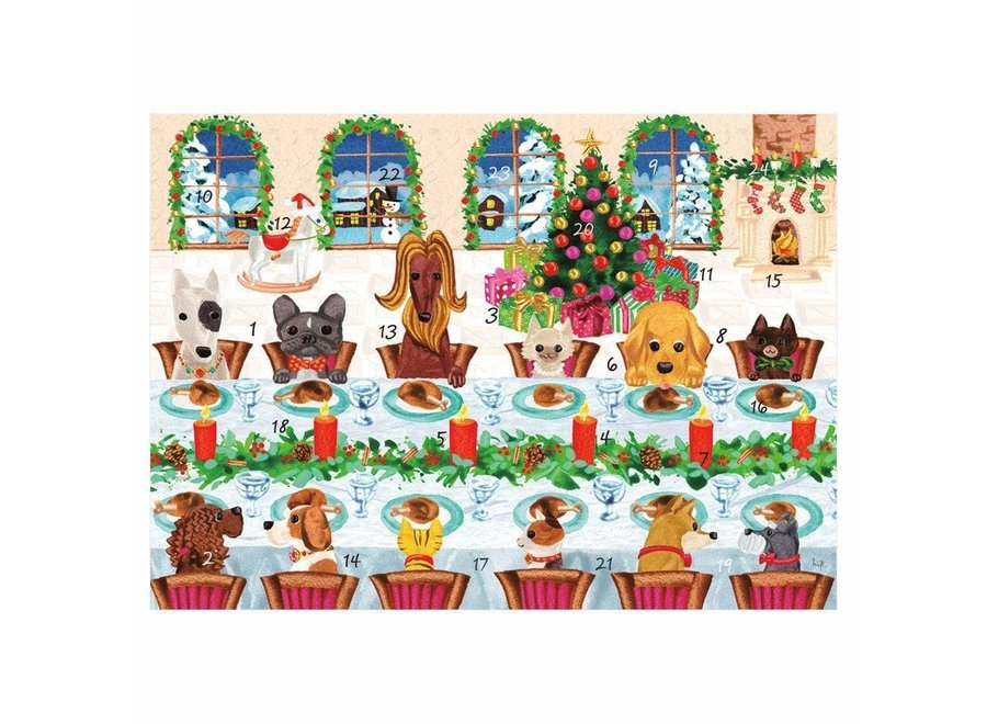 The Pet Table Advent Calendar Greeting Card - 1 Card & 1 Envelope