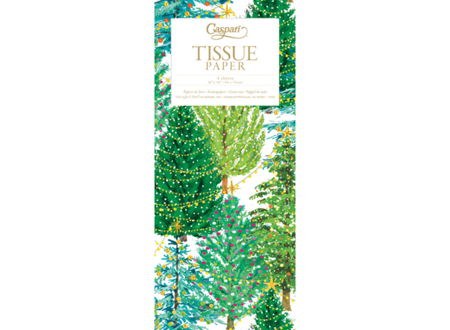 Christmas Trees With Lights Tissue Pkg 4 Sheets