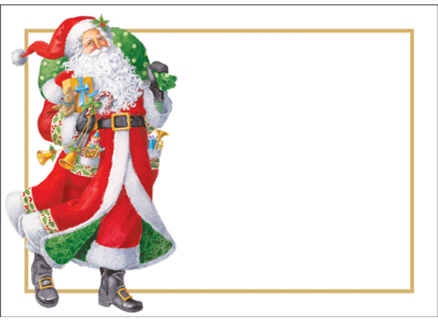 Woodland Santa Name Labels-Gallery