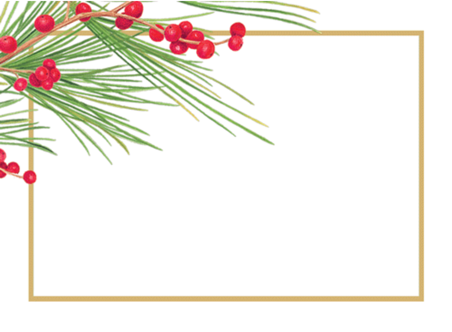 Berries And Pine Name Labels-Gallery