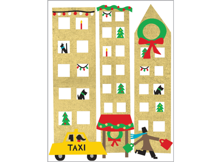 Christmas In The City Foil Enclosures 4 Pk Foil-Gallery