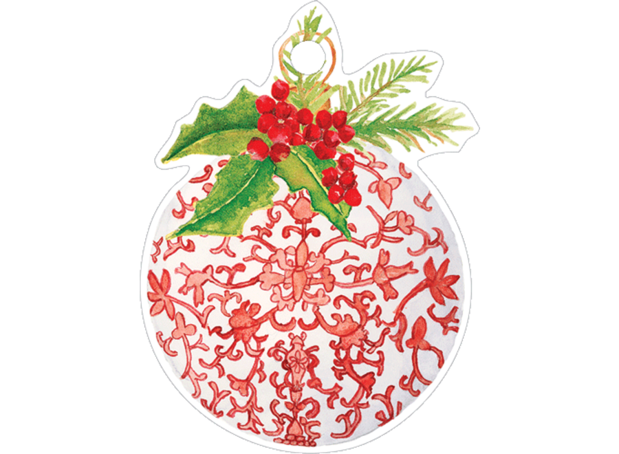 Porcelain Ornament Ornament Tag W/header 4 Pk-Gallery
