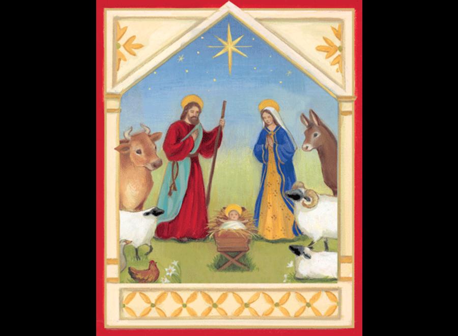 Nativity Scene Christmas Card Box 16 Count
