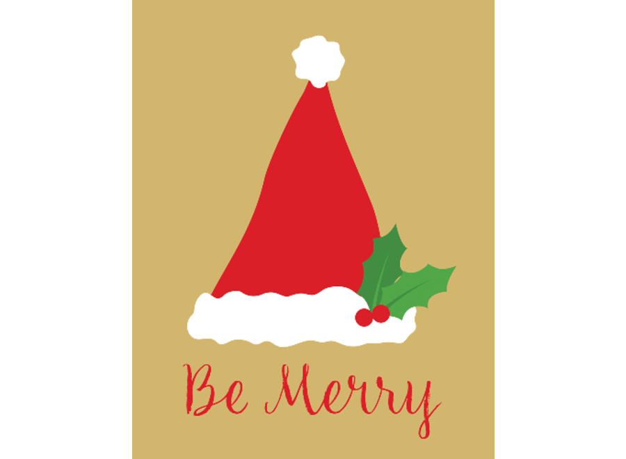 Be Merry Christmas Card Box Size 16 Count