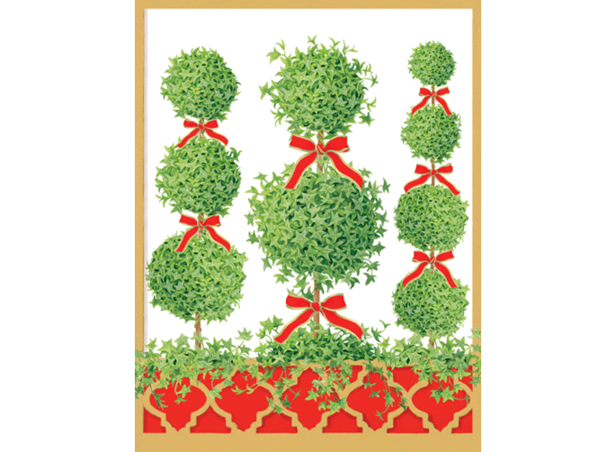 Topiaries Christmas Card Box 16 Count