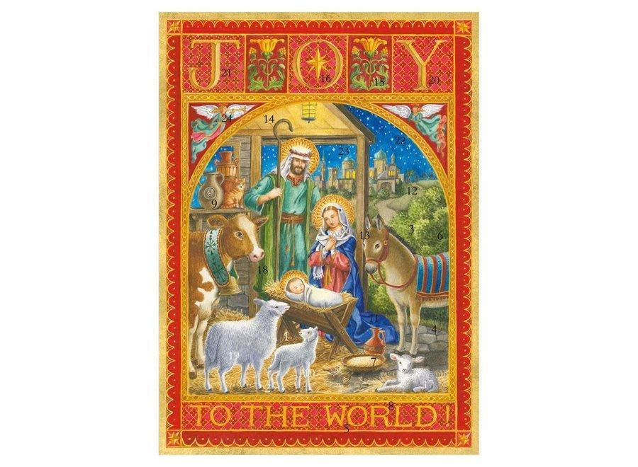 Joy to the World Advent Calendar - 1 Each
