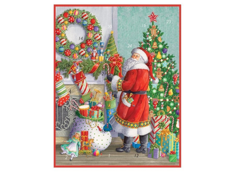 Santa at the Mantel Advent Calendar - 1 Each