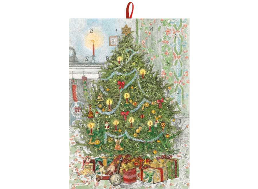 Tree With Gifts Advent Calendar With Envelope