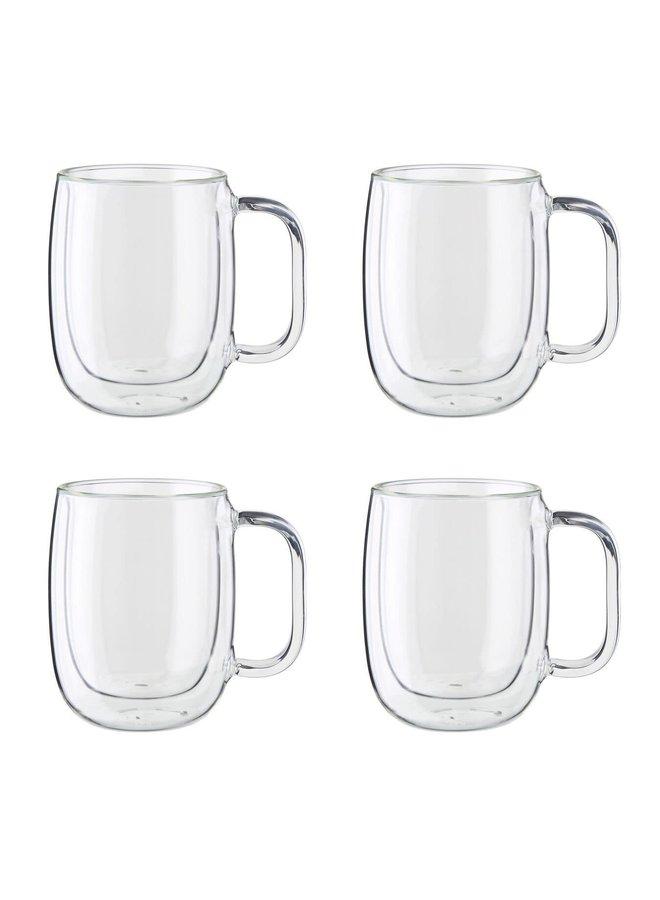 Sorrento Plus 12-Ounce Double Wall Set Coffee Mugs Buy 2 get 4