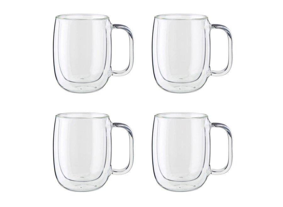 4 Piece Double Wall Set Coffee Mugs