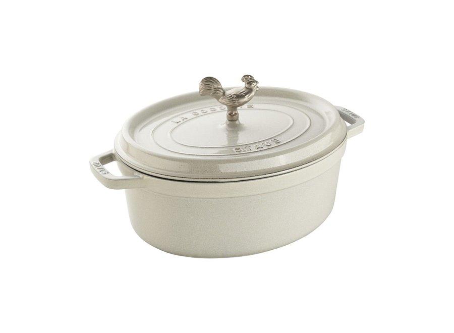 5.75-QT Coq Au Vin Cocotte - White Truffle