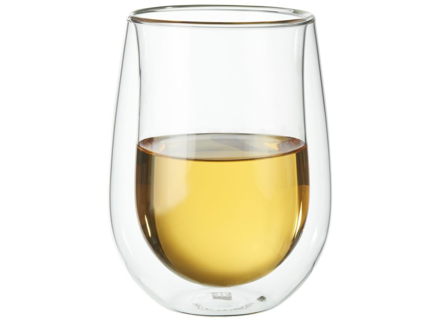 Double Wall Stemless 10 Oz White Wine Glass Set of8