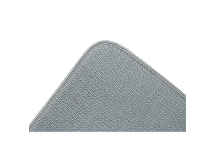 """Envision Home Gray Dish Drying Mat 16""""x18"""" Absorbent Microfiber Durable"""