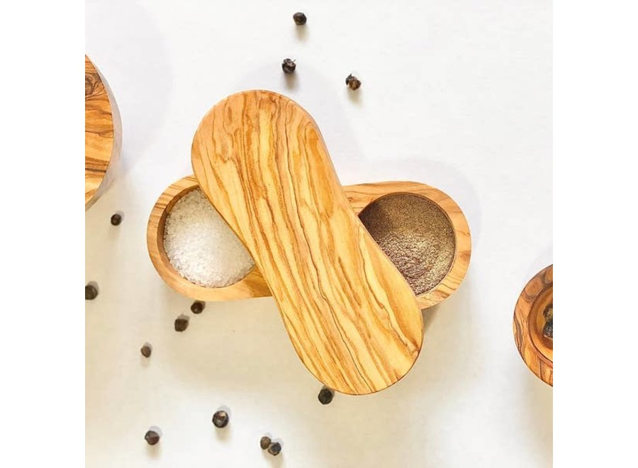 Salt & Pepper Keeper Natural Olive Wood