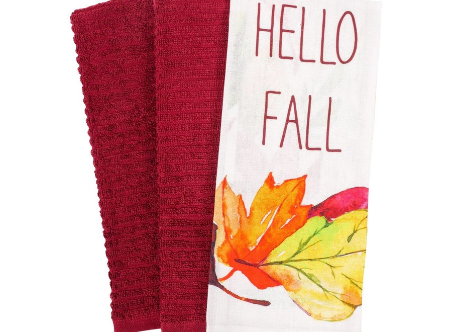 Hello Fall Kitchen Towel Set of 3