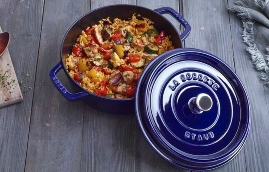 Vegetable Pilaf with Saffron & Chicken Breast